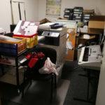 Foto von der Renovierung des Büros