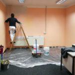 Foto von Renovierungsarbeiten im Büro