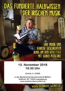 Guido Plüschke: Das fundierte Halbwissen der irischen Musik @ Musikschule Quintenzirkel & Meffert